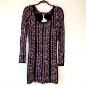 Free People Keyhole Back Bodycon Knit Dress